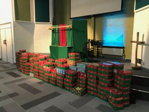Operation Christmas Child 2018 shoeboxes